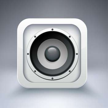 Vector icon of speaker on grey background - vector gratuit #130890