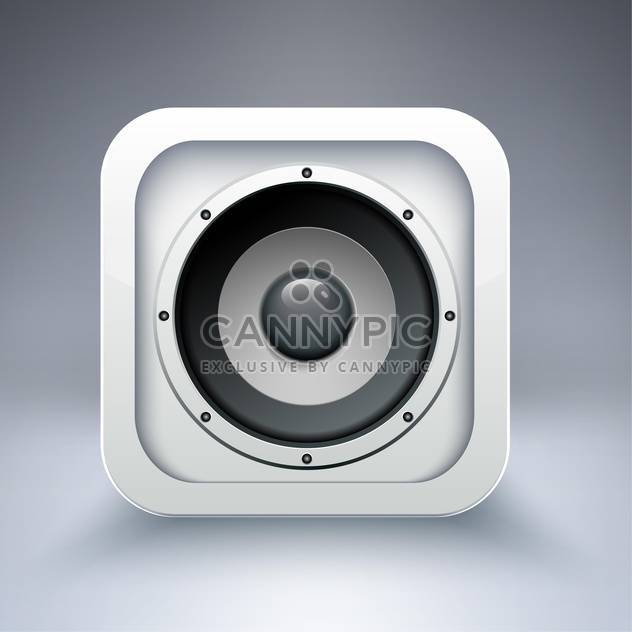 Vector icon of speaker on grey background - Free vector #130890