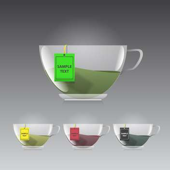 Cup of tea icon on grey background vector illustration - бесплатный vector #130920