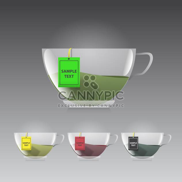 Cup of tea icon on grey background vector illustration - Free vector #130920