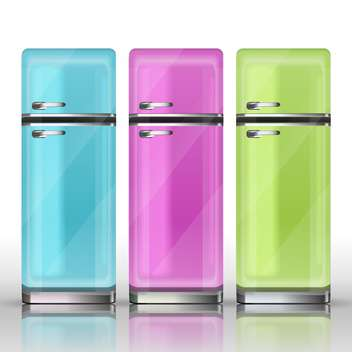 Front view of a refrigerators vector illustration - vector gratuit #130930