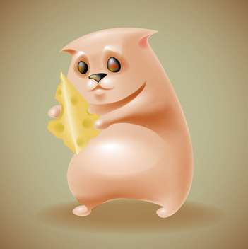 Hamster with cheese vector illustration - vector gratuit #130990