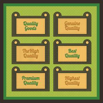 Vector collection of vintage and retro labels - vector #131010 gratis