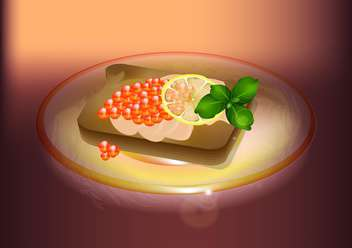 Japanese food sushi vector illustration - vector #131030 gratis