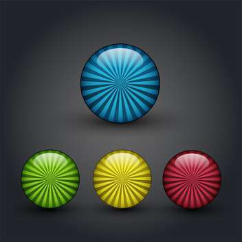 Vector color web buttons set - vector gratuit #131160