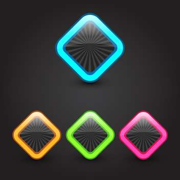 Vector color web buttons set - Kostenloses vector #131170