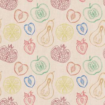 Cute fruits seamless vector background - Free vector #131200