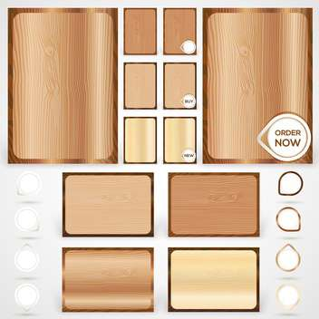Vector wood elements collection - Kostenloses vector #131210