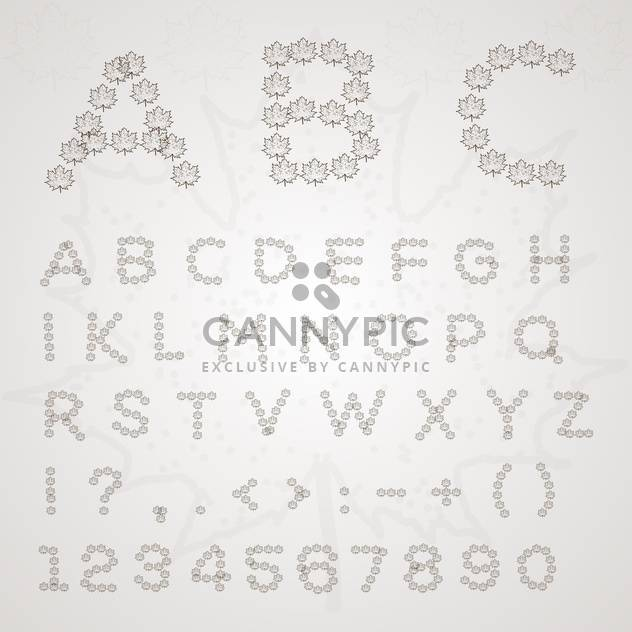 Leaves font vector illustration - Free vector #131220