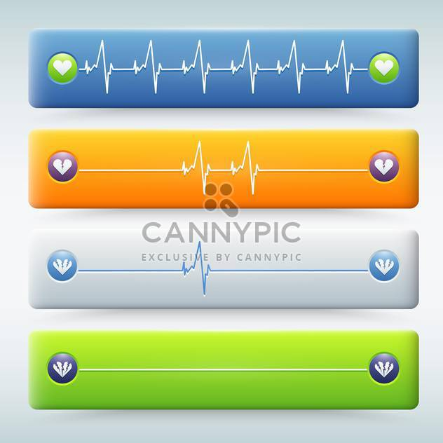 background with different types of cardiogram - Free vector #131320