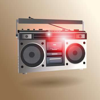 Retro radio set icon vector illustration - Kostenloses vector #131340