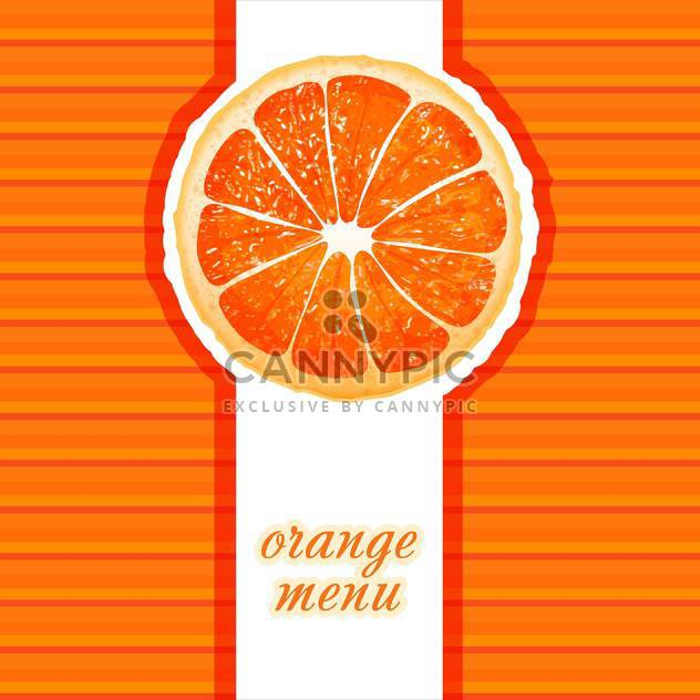 Orange Restaurant Menü Vektor illustrtion - Kostenloses vector #131370