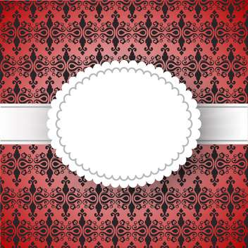 Vintage frame template with space for text - Free vector #131440