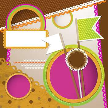 Vector scrapbooking background with frame - vector #131500 gratis