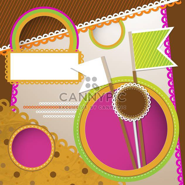 Vector scrapbooking background with frame - Free vector #131500