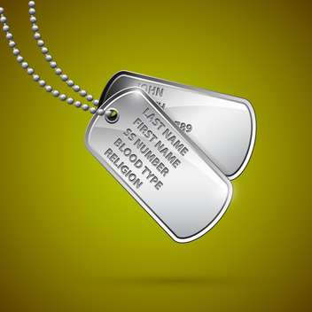 Military identityl tags vector illustration - Free vector #131510