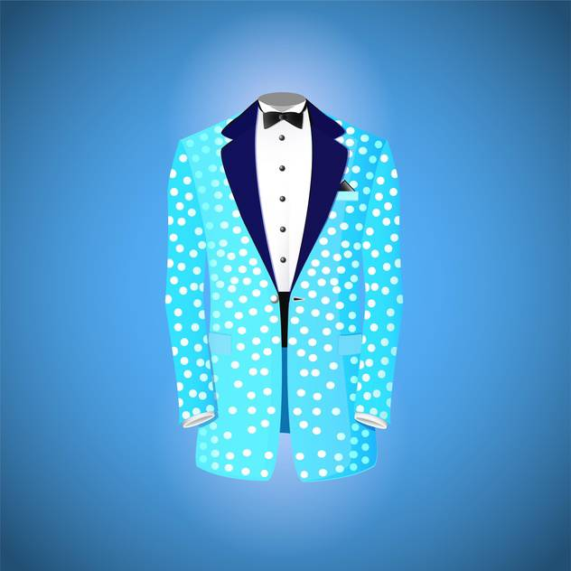Blue suit vector illustration - vector #131570 gratis