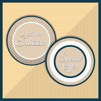 Collection of premium quality labels with retro vintage styled design - vector #131600 gratis
