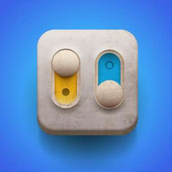 Switch on and off on on blue background - vector gratuit #131650