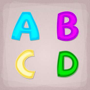 Vector colorful font letters set - vector #131700 gratis