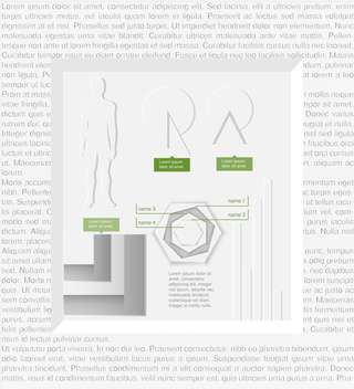 Vector infographic elements in frame made of text - Free vector #131840