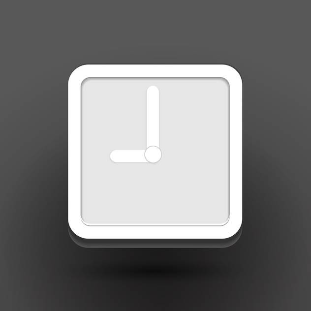 Vector white clock icon on black backround - Free vector #131870