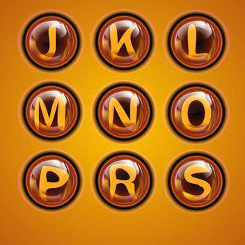 Letters of latin alphabet in round buttons - vector gratuit #131890