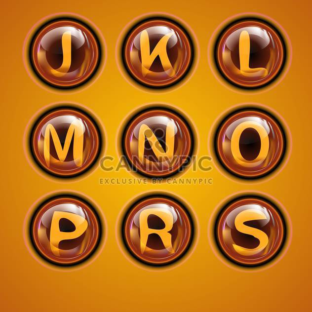 Letters of latin alphabet in round buttons - Free vector #131890