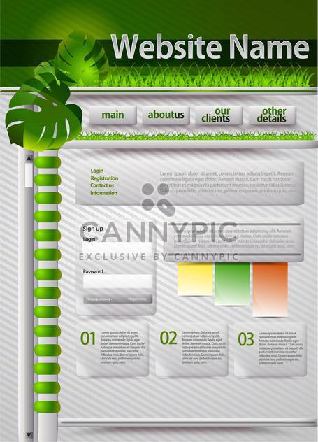 Web site design template vector illustration - Free vector #131910
