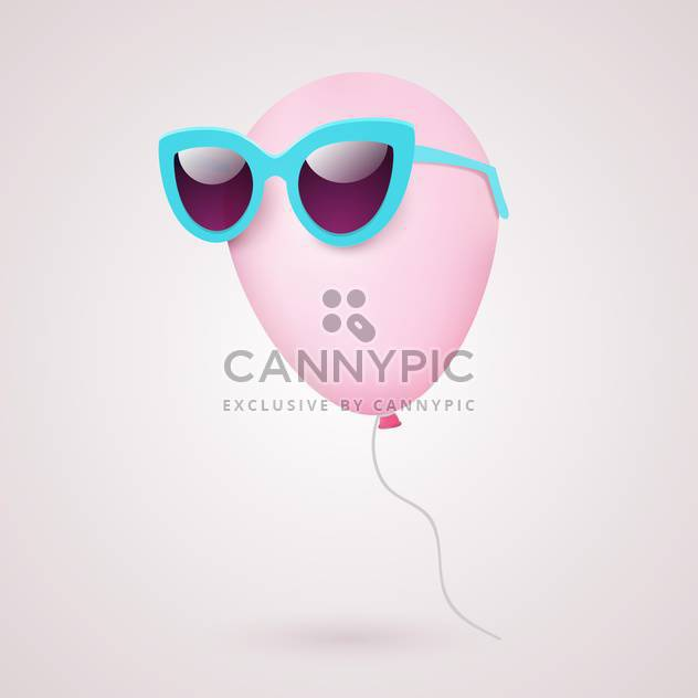 Balloon in sunglasses vector illustration - Free vector #131930