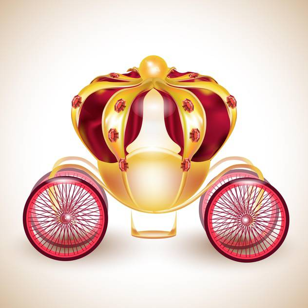 Fairytale carriage vector illustration on light background - Free vector #131960
