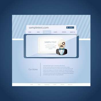 Login and registration web window illustration - vector gratuit #132000