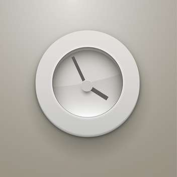 Vector mechanical clock illustration on grey background - бесплатный vector #132020