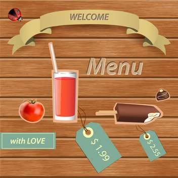 Vector restaurant menu design with food and drink - Free vector #132060