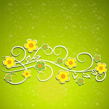 Green vector floral background - vector gratuit #132070