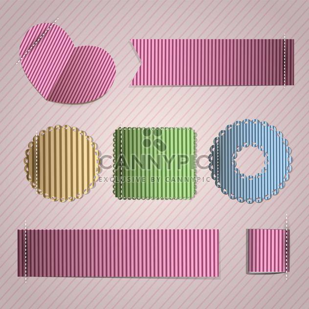 Vector set of vintage frames on pink background - Free vector #132120