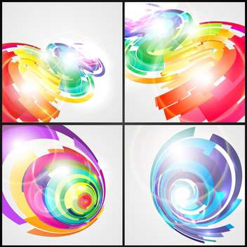 Abstract colorful futuristic elements for design - vector gratuit #132170