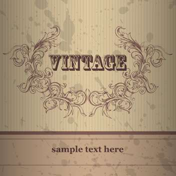 Vector vintage background with floral frame - vector gratuit #132220