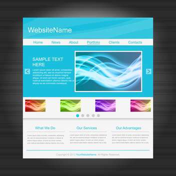Website templates with abstract elements,vector illustration - vector gratuit #132260