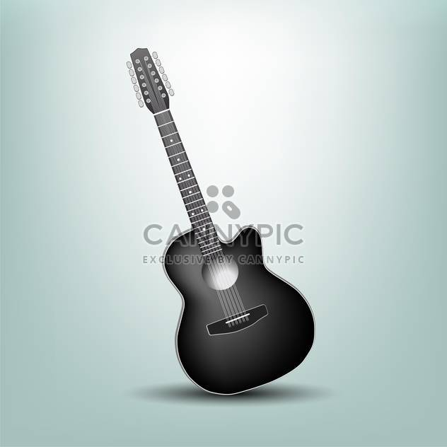 Vector illustration of a acoustic guitar - Free vector #132270