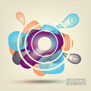 Abstract colorful background for design with infographic elements - Free vector #132280