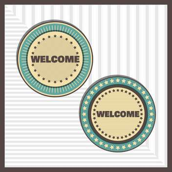 Vintage welcome labels,vector illustration - бесплатный vector #132300