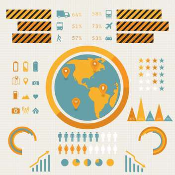 Vector business travel infographics set,vector illustration - Free vector #132310