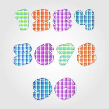 old fashioned colorful numbers,vector illustration - бесплатный vector #132350