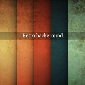Grungy vector retro background in differet colors - vector gratuit #132400
