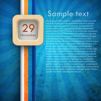 blue calendar background - 29 november - vector gratuit #132410
