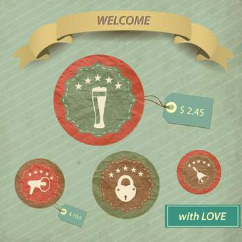 Restaurant menu design vintage vector illustration - vector #132460 gratis