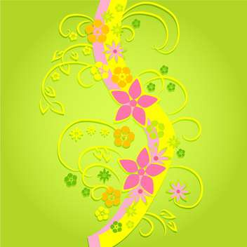Vector colorful flowers on green background - бесплатный vector #132470