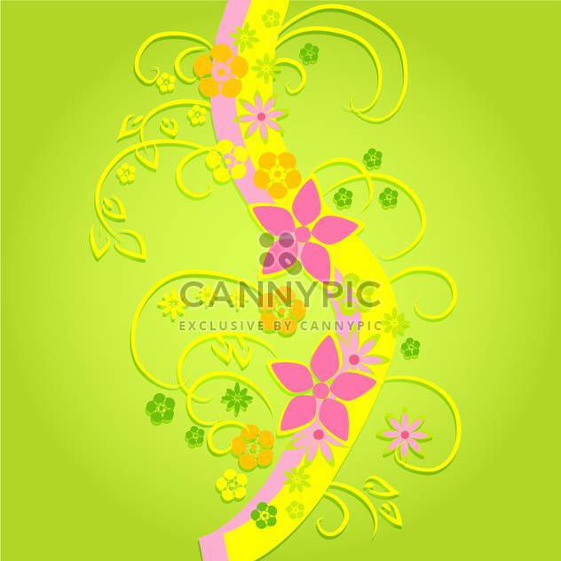 Vector colorful flowers on green background - Free vector #132470