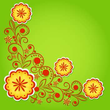vector summer floral background - vector gratuit #132500
